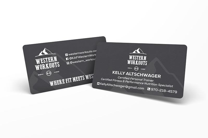 Western Workouts Business Cards