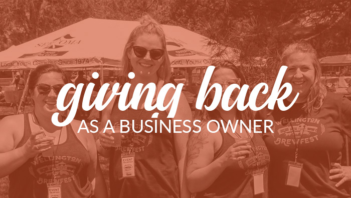 Giving back as a business owner